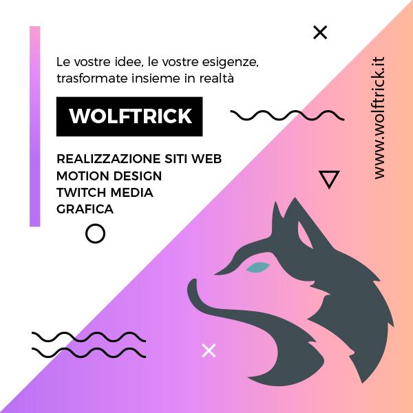 Wolftrick realizzazione siti web e media Twitch